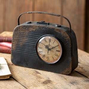 Vintage Radio Table Clock