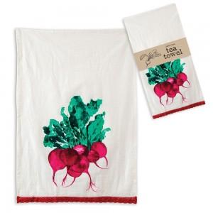 Radishes Tea Towel - Box of 4