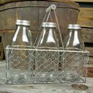 Rectangle Wire Bottle Tote