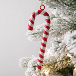 Red Candy Cane Ornament - Box of 4