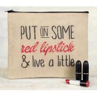 Red Lipstick Travel Bag