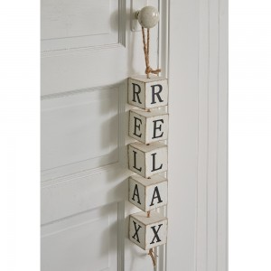 Relax Hanging Wood Blocks