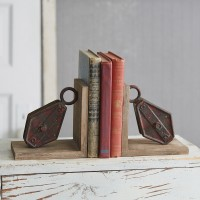 Repurposed Pulley Bookends