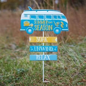 Retro Camper Van Garden Stake
