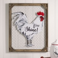 """Rise & Shine!"" Chicken Wall Décor with Chicken Wire"