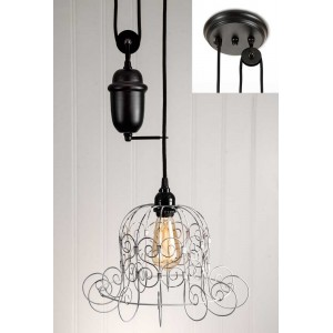 Romantic Shabby Pulldown Pendant Light