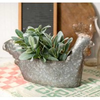 Rooster Metal Planter