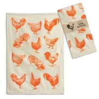 Roosters Tea Towel - Box of 4