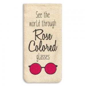 Rose Colored Eyeglass Case