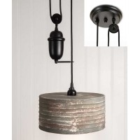 Round Pulldown Pendant Light