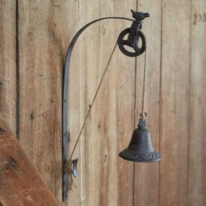 Rustic Bell Pulley and Bracket