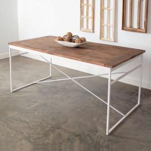 Rustic Farm Wood Top Table
