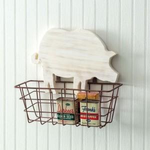 Rustic Pig Basket