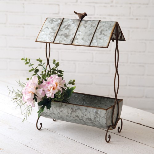 Rustic Planter with Roof