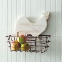 Rustic Rooster Basket