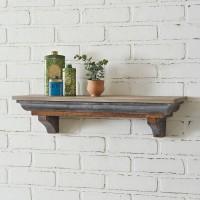 Rustic Wood and Metal Shelf