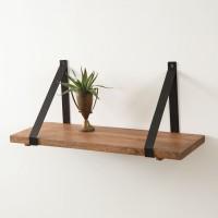 Rustic Wooden Plank Shelf