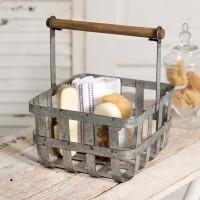 Salisbury Basket with Wood Handle