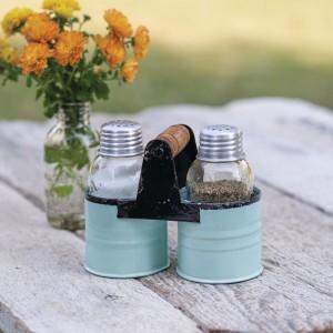 Salt and Pepper Can Caddy - Seafoam - Box of 2