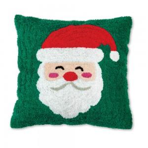 Santa Claus Hooked Cotton Pillow