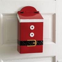 Santa Suit Hanging Mailbox