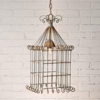 Scrolled Bird Cage Pendant Light