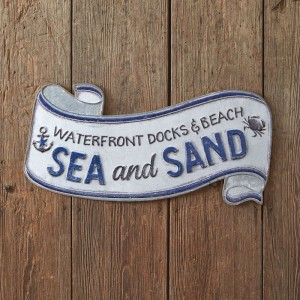 Sea and Sand Scroll Wall Sign