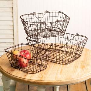 Set of 3 Matilda Wire Baskets
