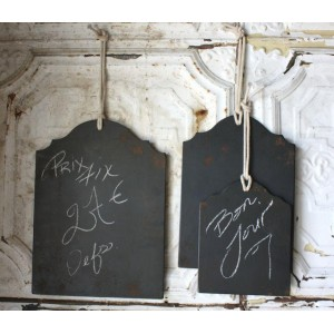 Set of 3/Vintage-Style Chalk Panels