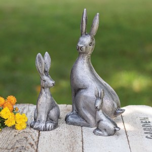 Set of Three Cottontail Rabbits