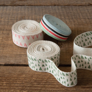 Set of Three Fabric Winter Wonderland Ribbon Rolls