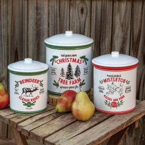 Set of Three Holiday Storage Containers