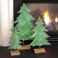 Set of Three Metal Christmas Trees