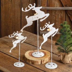 Set of Three Metal Reindeer