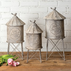 Set of Three Silo Containers