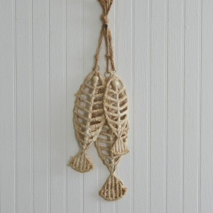 Set of Three Textured Fishbones