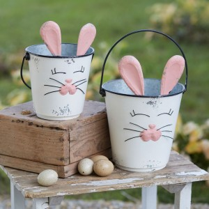 Set of Two Bunny Buckets