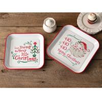 Set of Two Christmas Trays
