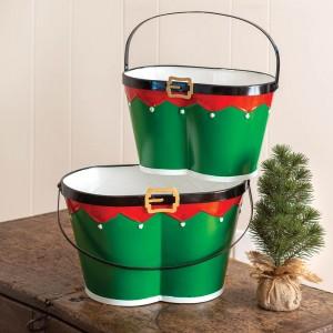 Set of Two Elf Pants Buckets