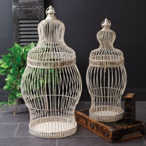 Set of Two Iron Victorian Birdcages