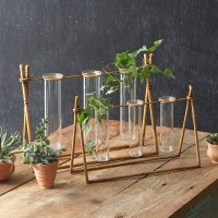 Set of Two Metal Bamboo Propagation Stations
