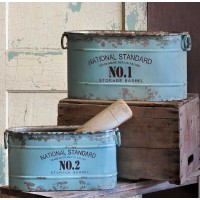 Set of Two National Standard Buckets