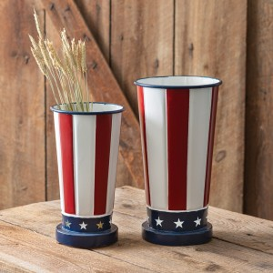 Set of Two Patriotic Vases