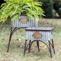 """Set of Two """"Poland"""" Tubs with Stands"""