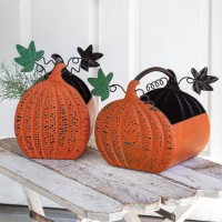Set of Two Pumpkin Containers