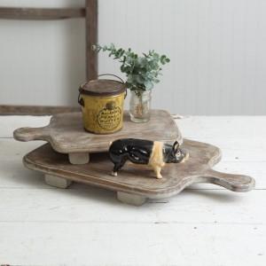 Set of Two Wood Cutting Board Risers