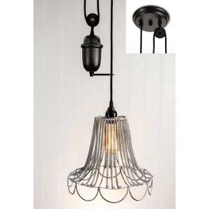 Shabby Chic Pulldown Wire Pendant Light