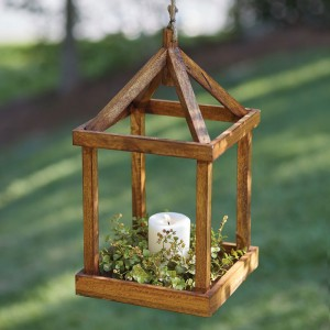 Simple Open Wood Lantern