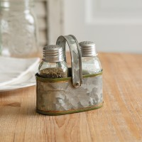 Simple Salt and Pepper Caddy with Handle - Box of 2
