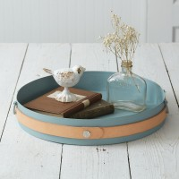 Slate And Leather Modern Tray